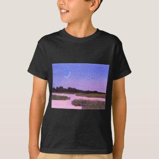 Camiseta Pântano crescente do crepúsculo da lua & da