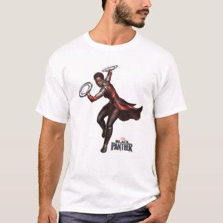 Camiseta Pantera preta | Nakia com lâminas do anel
