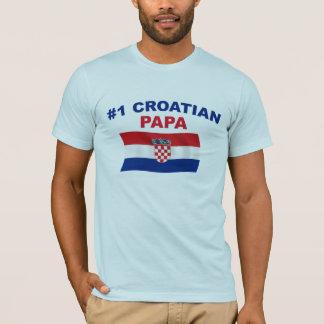 Camiseta Papá do croata #1