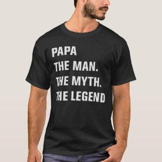 Camiseta Papá o homem. O mito. A legenda
