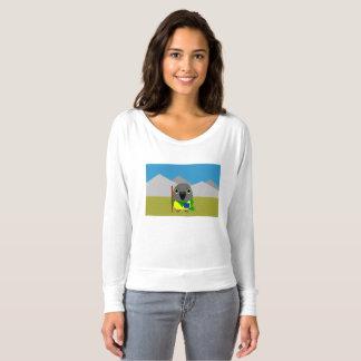 Camiseta papagaio de Senegal do ネズミガシラハネナガインコオウム pronto
