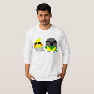 Camiseta papagaio do Cockatiel & do Senegal do オカメインコオウム