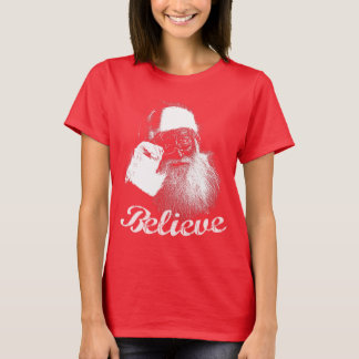 Camiseta Papai Noel acredita o t-shirt