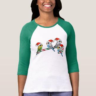 Camiseta Papai noel Budgies do bastão de doces