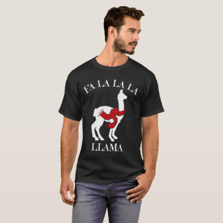 Camiseta Papai noel do lama do Natal
