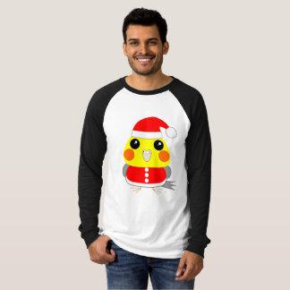 Camiseta papai noel do papagaio do Cockatiel do オカメインコ para