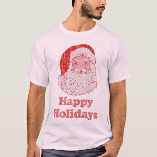 Camiseta Papai noel do vintage boas festas