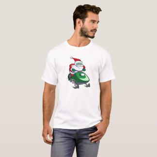Camiseta Papai noel em um Snowmobile