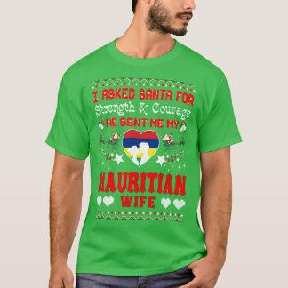 Camiseta Papai noel enviado camisola feia do Natal maurício