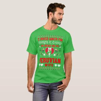 Camiseta Papai noel enviado camisola feia do Natal peruano