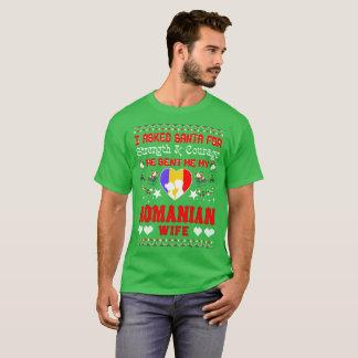 Camiseta Papai noel enviado camisola feia do Natal romeno