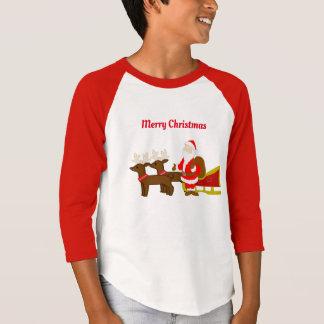 Camiseta Papai Noel no trenó do Natal