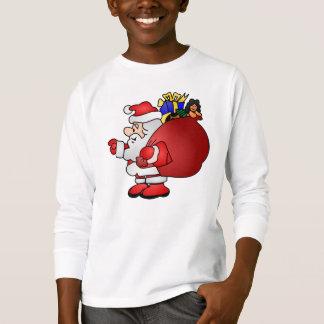 Camiseta Papai noel que leva o saco do t-shirt dos