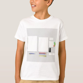 Camiseta papéis das fontes