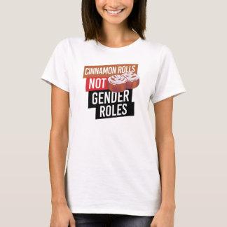 Camiseta Papéis do género de Rolls da canela NÃO --