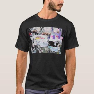 Camiseta Papel rasgado estilo de Banksy da parede dos