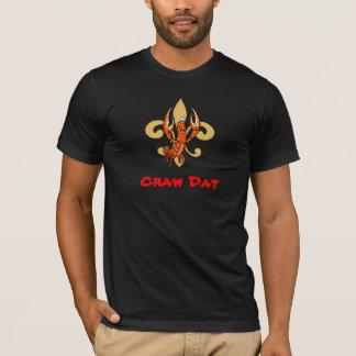 Camiseta Papo Dat!  Flor de lis, pontapé Dat dos lagostins