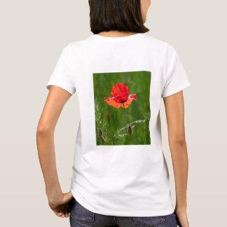 Camiseta Papoila vermelha no verão