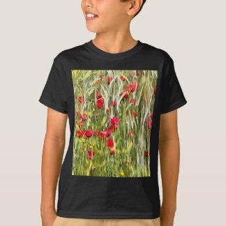 Camiseta Papoilas de milho vermelhas