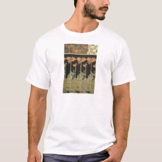 Camiseta Papoilas populares de Nouveau da arte do vintage