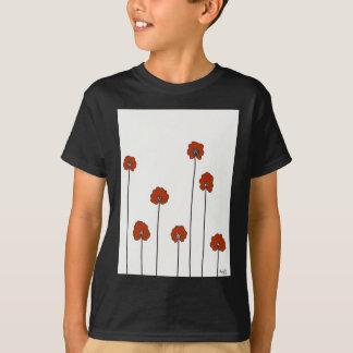 Camiseta papoilas vermelhas