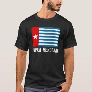 Camiseta Papua ocidental Merdeka! T-shirt da bandeira da