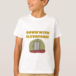 Camiseta Para baixo com elevadores