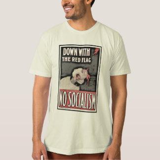Camiseta Para baixo com socialismo