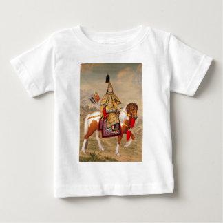 Camiseta Para Bebê 乾隆帝 do imperador do Qianlong de China na armadura