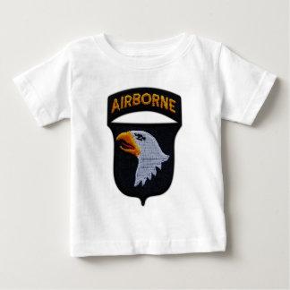 Camiseta Para Bebê 101st Divisão aerotransportada de ABN que grita