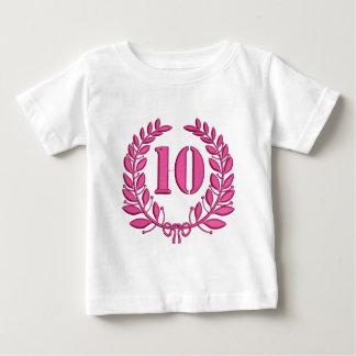 Camiseta Para Bebê 10 anos