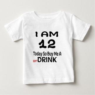 Camiseta Para Bebê 12 hoje compre-me assim uma bebida