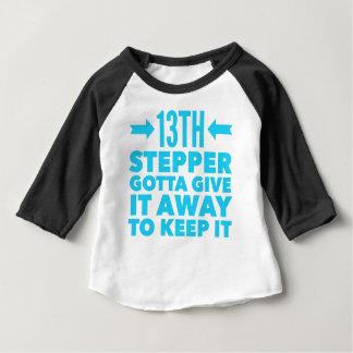 Camiseta Para Bebê 13o Recuperação da bolsa de estudo da sobriedade
