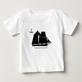 Camiseta Para Bebê 1883 escuna do topsail - fernandes tony