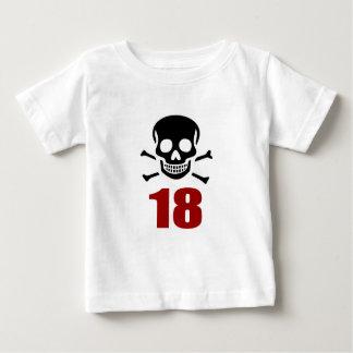 Camiseta Para Bebê 18 designs do aniversário