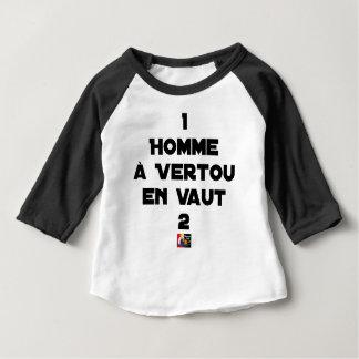 Camiseta Para Bebê 1 HOMEM à VERTOU VALER 2 - Jogos de palavras