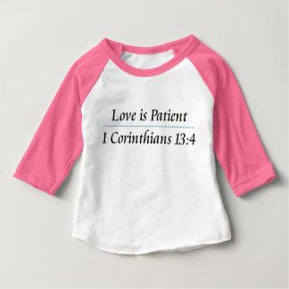 Camiseta Para Bebê 1 t-shirt do 13:4 dos Corinthians para miúdos