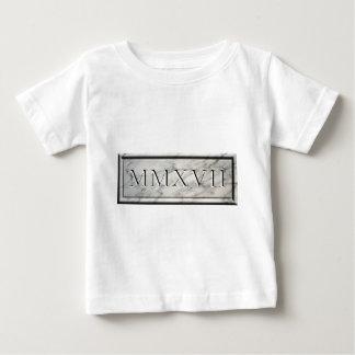 Camiseta Para Bebê 2017 mármores MMXVII