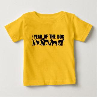 Camiseta Para Bebê 2018 anos novos chineses do T do amarelo do bebê