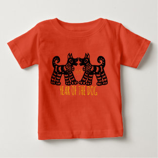Camiseta Para Bebê 2 cães para o bebê 2018 chinês do ano novo da