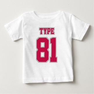Camiseta Para Bebê 2 futebol DE PRATA CARMESIM BRANCO lateral