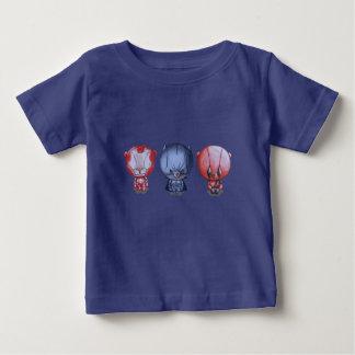 Camiseta Para Bebê 3 heróis pequenos