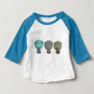 Camiseta Para Bebê 3 monstro pequenos