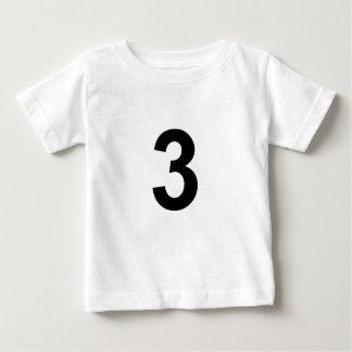 Camiseta Para Bebê 3 - número três
