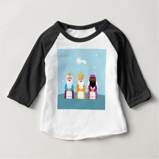 Camiseta Para Bebê 3 reis pintados mão