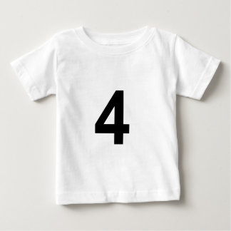 Camiseta Para Bebê 4 - número quatro