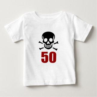 Camiseta Para Bebê 50 designs do aniversário