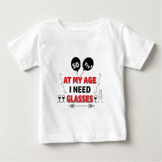 Camiseta Para Bebê 50th presente de aniversário engraçado do ano