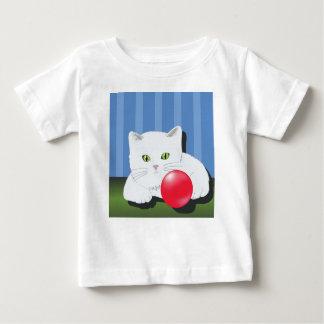 Camiseta Para Bebê 63White Cat_rasterized