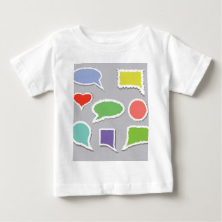 Camiseta Para Bebê 66Speech Bubbles_rasterized